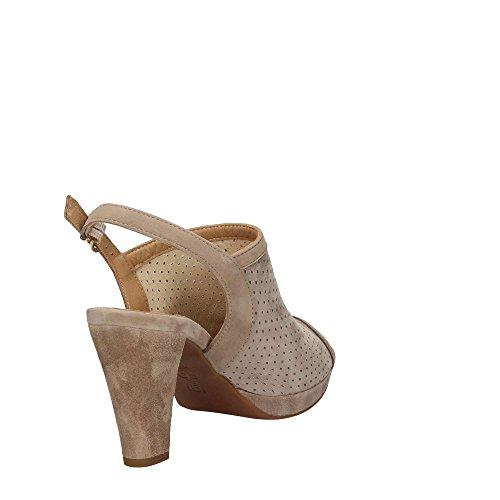 Zapatos Mujer Sandalias Piel Laminada Beige Igi & Co 77573 Beige