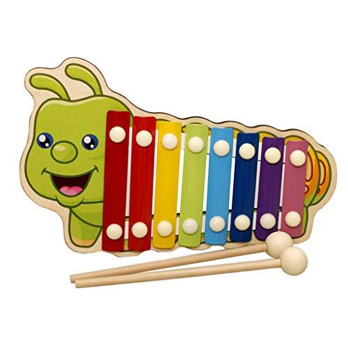 Homyl 8 Töne Xylophon mit Schlägel Musikinstrument Spielzeug für Kinder - Raupe
