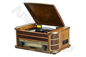 Majestic Giradischi TT-34 vinile in legno con ingressi USB, CD, Radio Tape funzioni di registrazione by Majestic