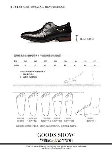 kakaka hommes Chaussures de chaussures Business pour léger en cuir de vache Noir