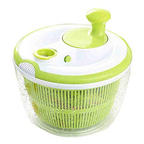 Salatschleuder, einfach zu schleudern und trocknen, Grün und Weiß