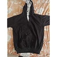 BLP Unisex Solid Hoodie (X-Large, Black)