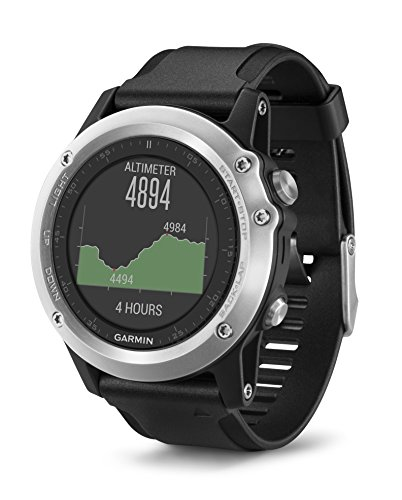Garmin Fenix 3 HR GPS Multisport Watch with Outdoor Navigation and Wrist Based Heart Rate – Silver Edition