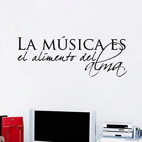 La música española es comida alma Vinilo Pegatinas