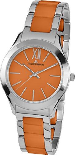 Jacques Lemans Damen-Armbanduhr Rome Analog Quarz Edelstahl 1-1796L