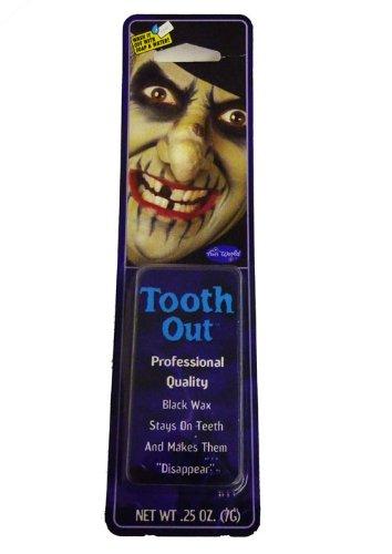 Black Out Zahn Wachs Vampire Fancy Kleid Halloween