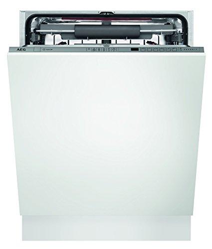 AEG FSE62700P Geschirrspüler (vollintegriert) / A++ / extra leise Spülmaschine mit Satelliten-Sprüharm / sparsamer Einbaugeschirrspüler mit Programmautomatik und AirDry-Funktion / weiß und silber