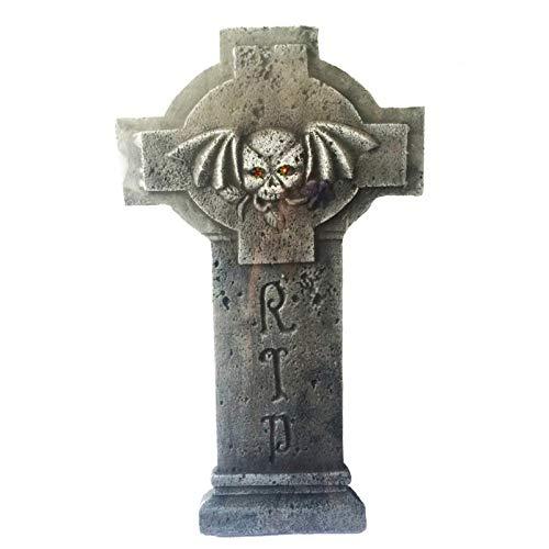 Unbekannt AEC-gu78217-Grabstein aus Schaumstoff Hartschale Rip Lichterkette 60cm-Pi
