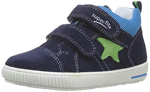 Superfit Baby Jungen Moppy Sneaker, (Blau 80), 23 EU Baby-sneaker