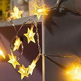 LED Lichterkette Sterne String Licht 4M/13.2ft 40 LEDs Sternen Lichterkette, Innen  Deko, Batterienbetriebene 4.5v LED Sternenlicht für Weihnachtsbeleuchtung