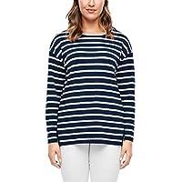 Triangle Dames 301.10.003.14.140.2034870 Sweatshirt, Navy Stripes, 50