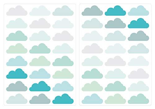 I-love-Wandtattoo Pegatina de Pared Set habitación Infantil Nubes en una combinación de...