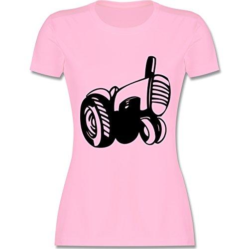 Andere Fahrzeuge - Traktor - tailliertes Premium T-Shirt mit Rundhalsausschnitt für Damen Rosa