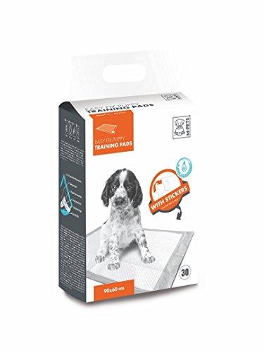 M-PETS 10163101 Welpen-Unterlage Welpentoilette Puppy Pads Easy Fix mit Klebestreifen, 45 x 60 cm