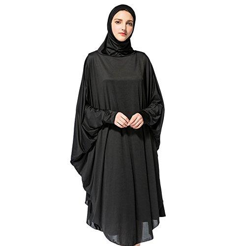 Hougood Hougood Hijab Schal Lange Kopftuch Frauen Muslimische Feste Schals Chadors Arabien Islamische Gebet Kleid Muslimische Kleidung Hijab Kleider Frauen Muslim Bat's-Flügelhülsen Kleid Hijab