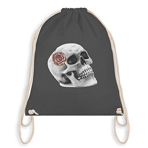 (Rockabilly - Totenkopf Rose Vintage Skull - Unisize - Dunkelgrau - WM110 - Turnbeutel & Gym Bag)