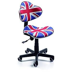 duehome Silla de Oficina Juvenil, Color British