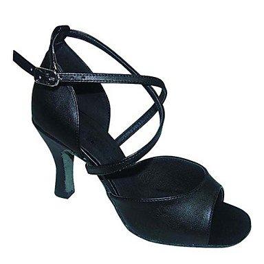 Chaussures De Danse - Non Personnalisable - Pour Femme - Danse Latino-américaine / Salsa / Samba / Chaussures De Swing - Carré-satin / Faux Amande