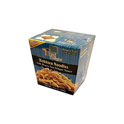 Thai Delight Hokkien Nudeln Honey Soy Ginger 330g (Honig Soja Ingwer) (Thai Nudeln)