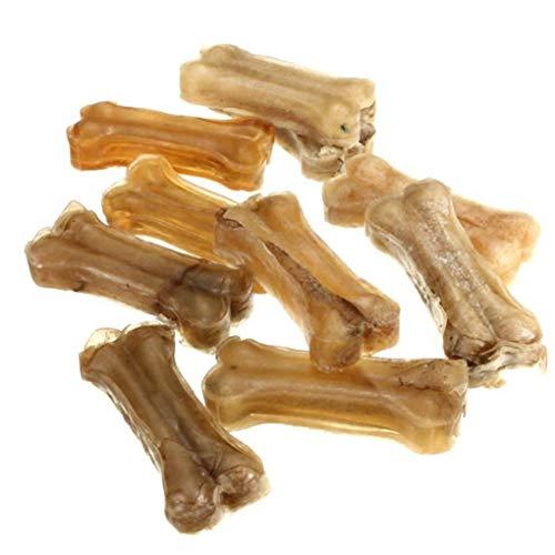 DANDANdianzi 10pcs / Lot Snack Treat Kausnack Knochen Haustier Hund Zahnreinigung Knochen Hund Dental Zahnen Aid Spielzeug Gadget