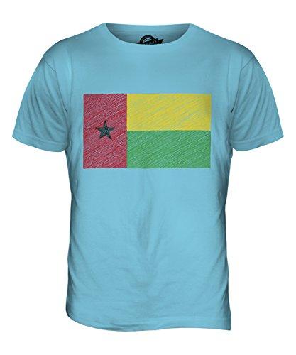 CandyMix Guinea-Bissau Kritzelte Flagge Herren T Shirt Himmelblau