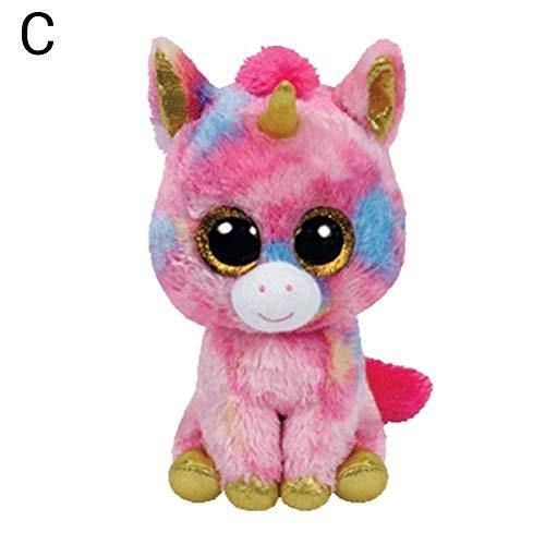 Creamon Einhorn Plüsch Puppe Spielzeug, Einhorn Plüsch Puppe Spielzeug mit großen Augen Stofftier Sammlung Puppe Spielzeug Geschenk 003#