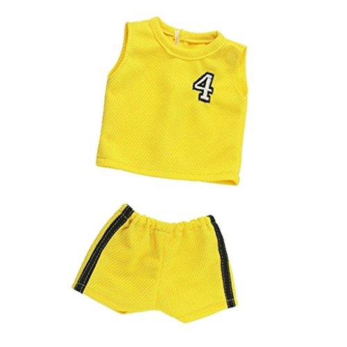 T TOOYFUL Puppenkleidung Gelbe Sportbekleidung Für 18 '' Our Generation Doll