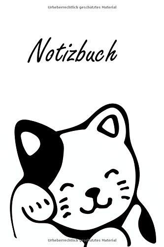 Notizbuch: Schwarz Weiße Katze   Katze Kätzchen Haustier Liebhaber Geschenk   für Notizen, Skizzen, Zeichnungen, als Kalender oder Tagebuch (A5   liniertes Papier   Soft Cover   100 Seiten)