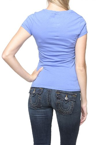 Aeronautica Militare Damen Shirt Logo-T-Shirt Emelie Paste Violett