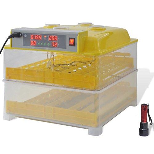 vidaXL Incubadora automática para 96 Huevos de gallina Animales Control de Temperatura