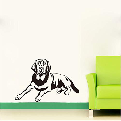 Qbbes 80 * 53 Cm Schatten Labrador Hund Wandtattoos Kinderzimmer Vinyl Wall Paper Removable Schlafzimmer Aufkleber Wohnzimmer Aufkleber Wohnkultur Große Größe -