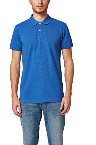 ESPRIT Herren Poloshirt 028EE2K012, Blau (Bright Blue 410), X-Large (Herren-polo-shirt Basic)