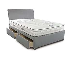 simmons bodyzone 800 4 schubladen diwan mit matratze king size grau k che haushalt. Black Bedroom Furniture Sets. Home Design Ideas