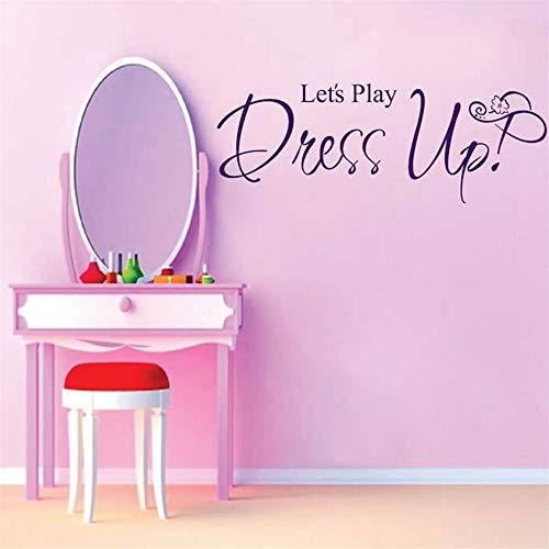 wandaufkleber Lassen Sie uns spielen Dress Up Günstige Big für Kinderzimmer ()