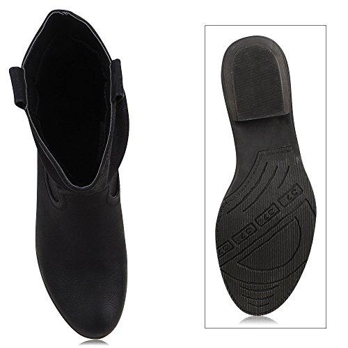 8c90480e66a2 ... Damen Stiefel Stiefeletten Absatz Boots Cowboy Boots in mehreren Farben  36 -41 Schwarz