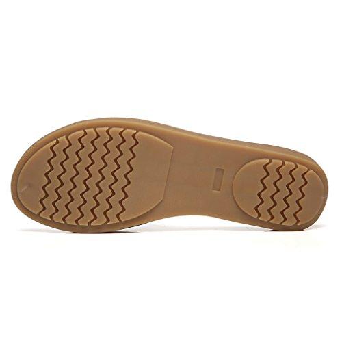 PENGFEI sandali delle donne Pantofole estive Sandali da spiaggia Donna femminile incinta Tempo libero Sandali piatti antiscivolo Blu, bianco e nero Confortevole e traspirante ( Colore : Nero , dimensi Bianca