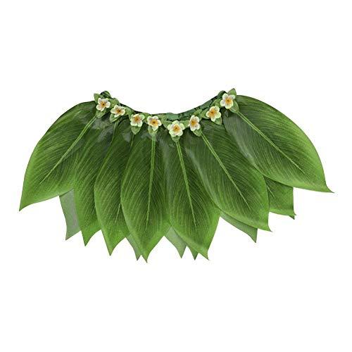 Falliback Tanzrock Hula Hawaii, elastischer Bund für Strand, Grill, Performance-Modelle für Kinder: 58 cm (Tahiti Kostüm)