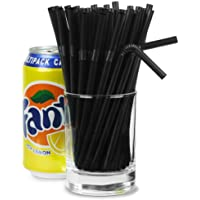 Small Bendy Straws 5.5inch Black - Box of 250 | Short Drinking Straws, Cocktail Straws