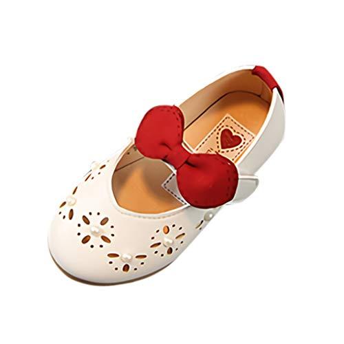 AIni Schuhe Baby Mode Beiläufiges Sale Kleinkind Kind Kinder Baby Mädchen Perle Aushöhlen Einzelne Prinzessin Schuhe Sandalen Kleinkinder Schuhe Krabbelschuhe Lauflernschuhe(19,Beige)