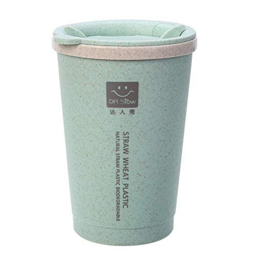 Travel Mug - 280ml Double Wall Insulation Wheat Fiber Straw Coffee Cup Travel Mug Leakproof - Optic Fiber Women Filter Drink Case Cactus Stainless Glass Organizer Travel Lobster Coffee Pouch