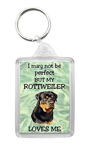 The Barking Mad Shop Schlüsselanhänger mit Rottweiler-Design