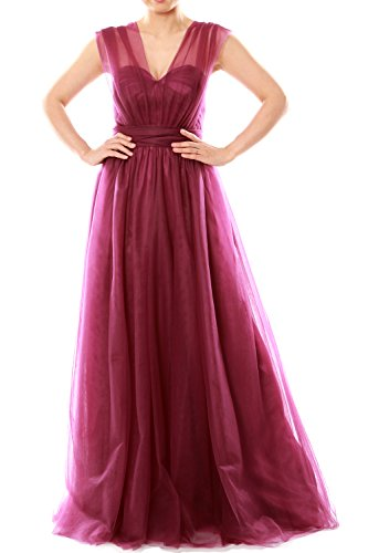 MACloth Women Long Sweetheart Convertible Tulle Wedding Party Bridesmaid Dress Schwarz
