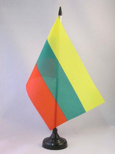 TISCHFLAGGE LITAUEN 21x14cm - LITAUISCHE TISCHFAHNE 14 x 21 cm - flaggen AZ FLAG