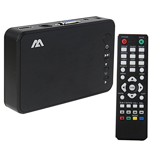 Pathson HD Multimedia Player Reproductor multimedia SD multifunción USB 2.0 - con 1080P (1920 × 1080) HDMI Optical Stereo L / R Audio Output, control remoto IR