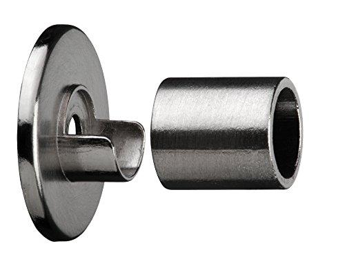 Tilldekor Gardinenstangenträger für Wandmontage, Wandlager, Ø 12 mm, edelstahl optik, Metall