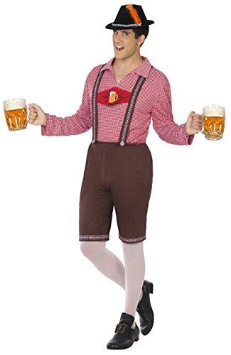 Imagen de disfraz de bávaro con cerveza para hombre
