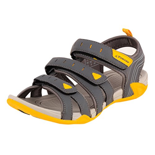 Tracer Men's SD031 Series D.Grey / Yellow Synthetic Floater Sandals - 09 UK  available at amazon for Rs.1008