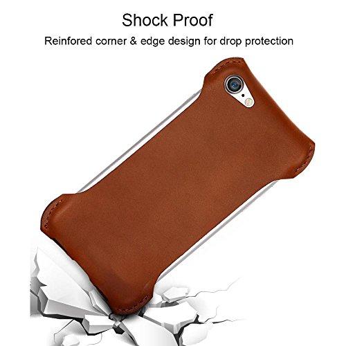 Coque iPhone 7 Plus Housse étui-Case en Supérieure du cuir,Fait à la main,douce et mince,la conception de choc,MMY Coque Prime de Voyage pour iPhone 7 Plus 2016-Noir Noir