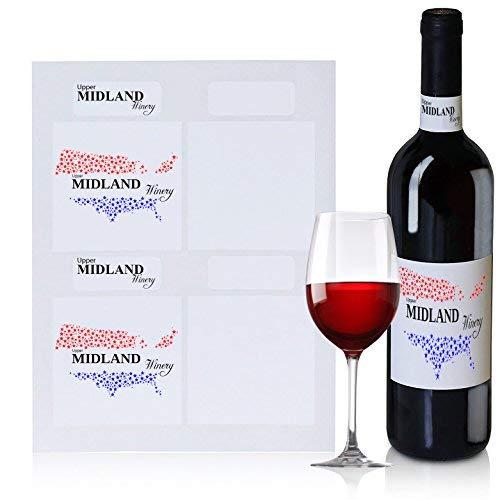 ein Flasche Etiketten, 40Blanko Wasser Beständig Wein Etiketten und 40Blanko Hals Etiketten, Benutzerdefinierte und persönlichen Etiketten, für Hochzeiten Oder Anderen Verwenden ()