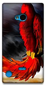 The Racoon Lean Red Parrot hard plastic printed back case / cover for Nokia Lumia 720